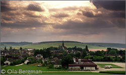 View over Chablis, Burgundy.