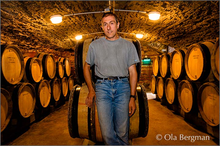Michel Digioia at Domaine Digioia-Royer, Chambolle-Musigny.