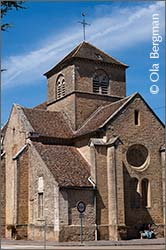 The church in Corgoloin, Burgundy.