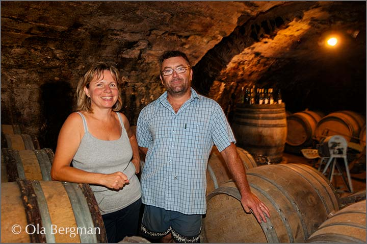 Nadine and Bruno Jeandeau, Leynes, Burgundy.