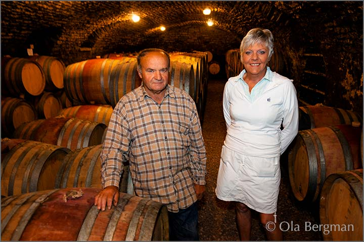 Chantal and Stanislas Heresztyn at Domaine Heresztyn