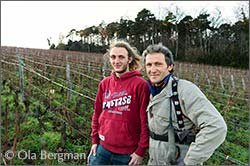 Anthony and Jacques Saumaize at Domaine Jacques Saumaize in Vergisson.