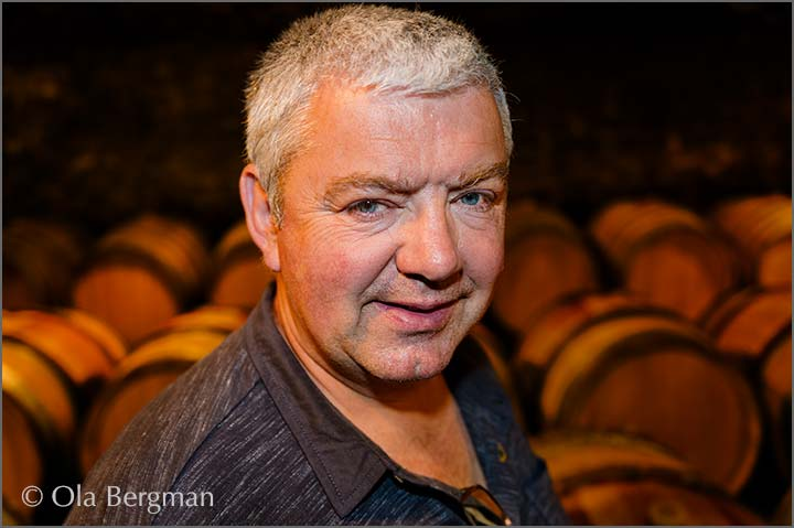 Philippe Gavignet at Domaine Philippe Gavignet in Nuits-Saint-Georges, Burgundy.
