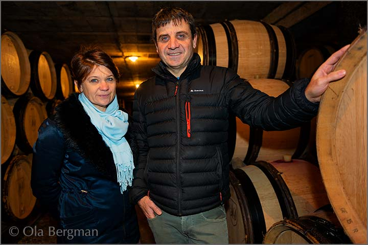 François-Xavier Maratray and Marie-Madeleine Pouillot at Domaine Maratray-Dubreuil in Ladoix-Serrigny, Burgundy.