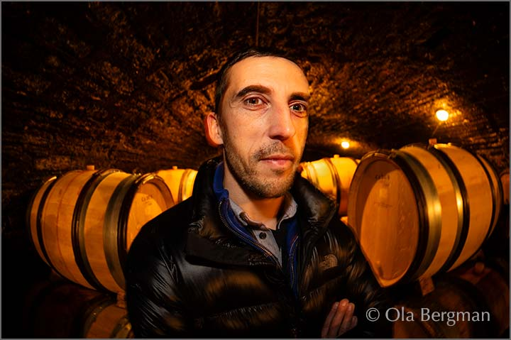 Pierre Duroché at Domaine Duroché in Gevrey-Chambertin, Burgundy.