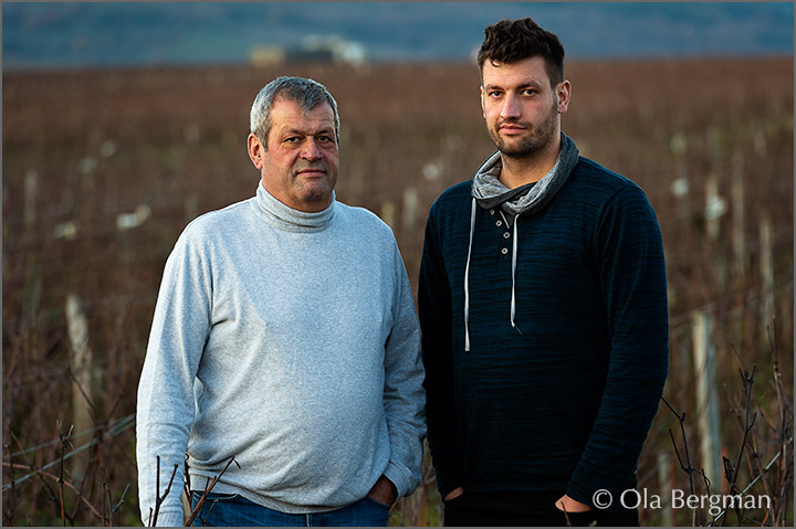 Régis and Quentin Forey at Domaine Forey in Vosne-Romanée, Burgundy.