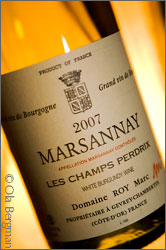 Marsannay, Les Champs Perdrix from Domaine Marc Roy in Gevrey-Chambertin, Burgundy.