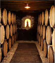 The cellar of Domaine Patrick Javillier.